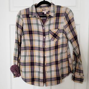 Merona plaid top